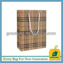 Cotton handle paper shopping bag Guangzhou Factory