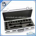 mais recente mldgj508 personalizado interior acolchoado de ferramentas de alumínio dispositivo de transportar caso da chave de soquete set