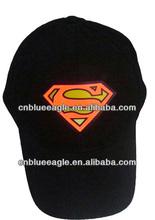 Newest Design EL Cap,LED Cap Sound Activated,plain dyed Cap customized logo led light camouflage cap