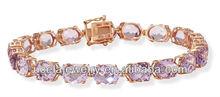 ametista rosa ragazze 14k bracciale in oro rosa