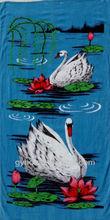 White Swan Printed Cotton Beach Towel