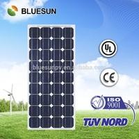 Bluesun TOP quality 100w mono crystalline silicon solar panel