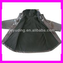 PVC coated children warm rain gear for winter