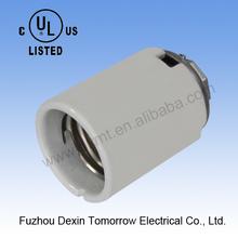 "MT1800(white glazed with screws+1/2"" cap) edison E39 ceramic UL+CUL lamp socket"