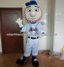 Good visual mr met mascot costume with ventilator adult mr met mascot costume
