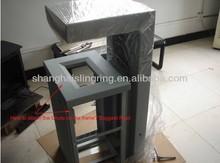 large stainless steel waste bin