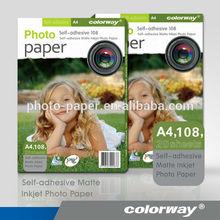 Self-adhesive Inkjet Matte Paper Rolls, Inkjet Matte Coated Adhesive photo sticker paper