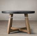 industrial vintage mesa de jantar redonda