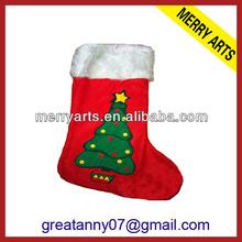 2015 new product Yiwu hot sale new design wedding decoration felt red christmas stockings wholesale