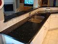 Quente- venda polido brilhante preto ardósia do granito counter tops, bancadas de cozinha