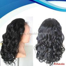 Factory Wholesale 100% virgin brazilian human hair half wigs