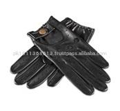Black Driving Goat Leather Gloves
