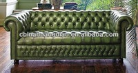 Italy style tufted leather hotel lobby sofa HDS949