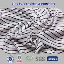 Underwear fabric 2014 printed stripes design with super soft hand feel micro nylon spandex fabric