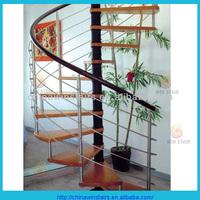 pvc handrail spiral stairs high quality spiral staircase indoor wrought iron spiral staircase/stairs