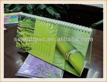 product promoter good quality printable folding desk calendar printing