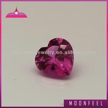 Wholesale loose 3# heart shape corundum ruby gems