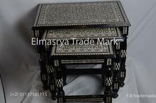 Handcrafted Inlaid Luxury Art Rectangle Arabian Table , #Ta-100