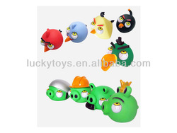 Interesting birds with big eyes and angry expression soft plastic toys