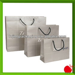 Nice quality printed paper shopping bag with satin handle