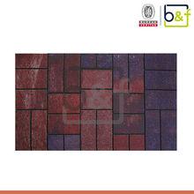Popular floor design multicolor fashion rubber outdoor rugs