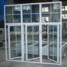 side hung aluminum casement inward opening casement window decorative