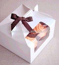 Cardboard/paper gift creative cupcake packaging box-4pcs