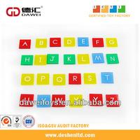 Plastic letter tiles, transparent alphabet letters, learing toys of letters