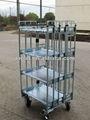 de anidación de acero roll contenedor para el transporte de huevo