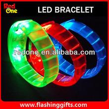 sound led bracelet OEM is available with logo printing on led bracelet