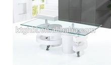 Modern cheap MDF high gloss + tempered glass hall room coffee table