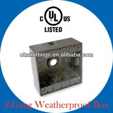 "Two Gang Weatherproof Box 3/4"""