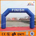 Treinamento esportivo de alta qualidade campanha publicitária linha de chegada inflável arco
