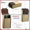 Pelle scatole regalo ingrosso, pvc vino contenitore di imballaggio, scatola regalo artigianali