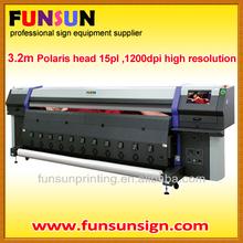 Polaris head Large format Solvent Printer (3.2m,15PL ,110sqh/h ))