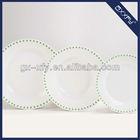 Round Shape 18pcs Europe Design Porcelain Dinnerware C6 Green Dot