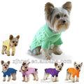 THE venta al por mayor ropas de mascotas perros, Multi-color tela Aran, suave y acogedor, pequeño y largo