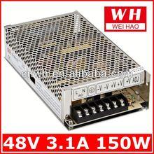 Different types 24v ac/dc power converter S-150-48 150w led driver 48v