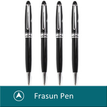 MOQ 1000Pcs Brand Black Business Customized Logo Promotional Ball Pen, Heavy Metal Pen