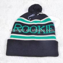 Kids 100% Acrylic, Custom Jacquard Bobble Hat