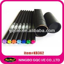 black wooden pencil 7pcs in paper tube