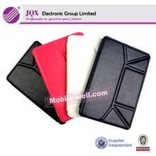 Fold design flip stand leather case,for apple iPad air leather cases