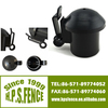 From China Manufacturer T-post round steel pipe fence post caps/plastic pipe fence post caps