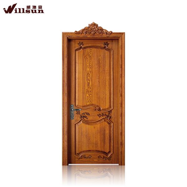 Elegant Door Frame Wood Carving Eterior Single Glass Door - Buy