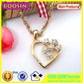 Collar personalizado 2014 nuevo diseño especial corazón retro dorado con cadena dorada #11692