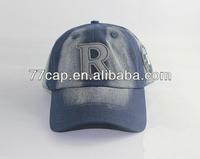Washed Cowboy Style Custom Embroidery Yankee Baseball Hats