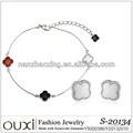 Sets de joyería de moda en plata (S-20134) OUXI 2014 con elementos de Swarovski.