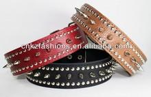 Genuine Leather Spike Dog Collar size L XL Mastiff Cane Corso Rottweiler