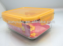 Rectangle Glass food container,storage box