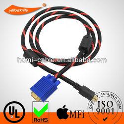 1.8m hdmi to 3 rca + vga cable